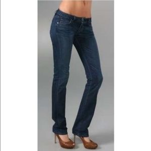 Paige Jeans Blue Heights Low Rise Skinny Leg